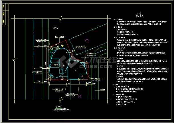 某餐厅建筑设计CAD设计施工图纸-图1