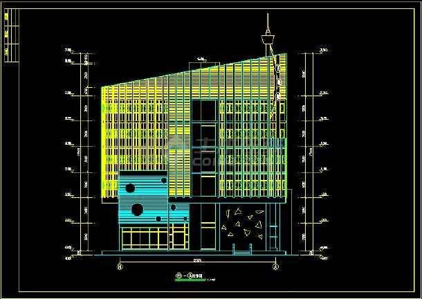 某餐厅建筑设计CAD设计施工图纸-图2