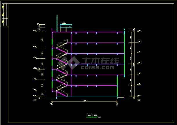 某餐厅建筑设计CAD设计施工图纸-图3