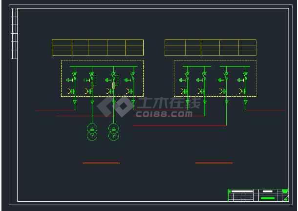 某电厂高压配电系统CAD全套设计图纸-图1