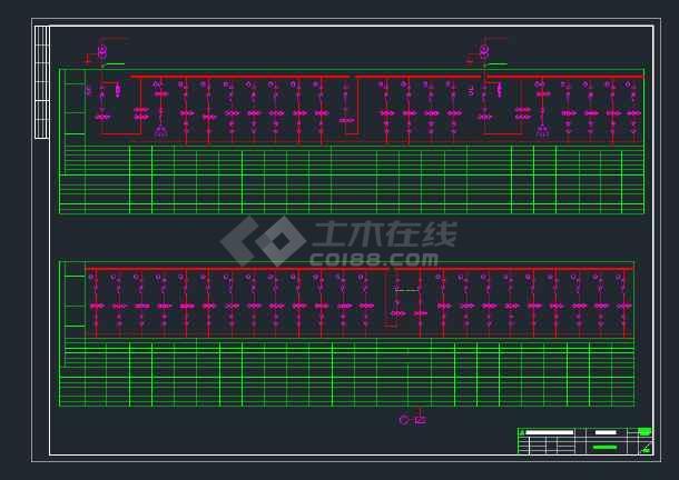 某电厂高压配电系统CAD全套设计图纸-图2