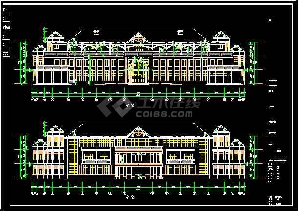 会所设计施工CAD建筑方案全套图-图1