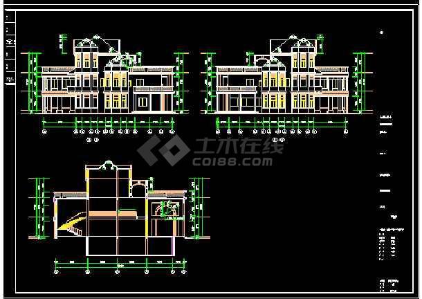 会所设计施工CAD建筑方案全套图-图2