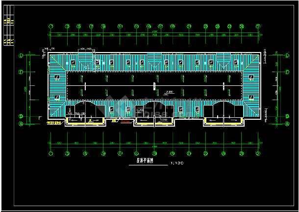 某小区六层住宅楼建筑设计CAD平立面施工图-图2