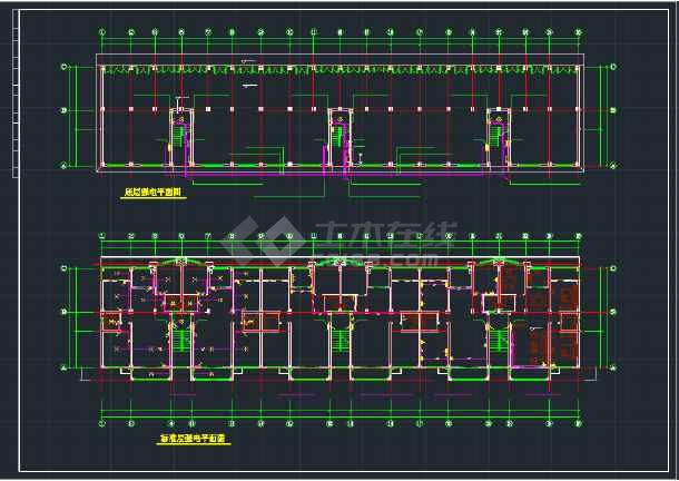 某地住宅楼CAD全套电气平面施工图纸-图2