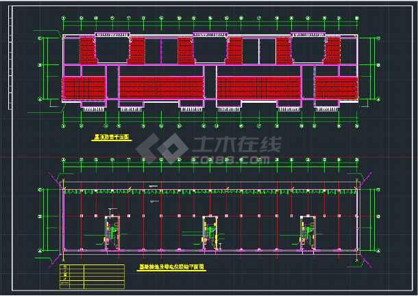 某地住宅楼CAD全套电气平面施工图纸-图3