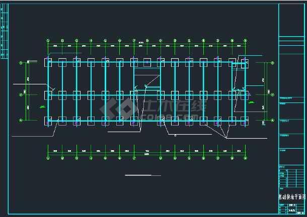 某社区综合楼强弱电CAD全套施工图纸-图3