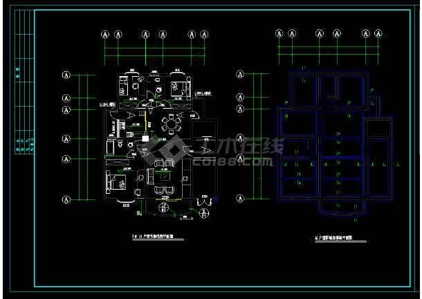 某地高档别墅cad设计竣工施工图-图2