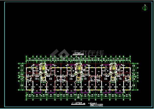 断肢剪力墙小高层住宅建筑施工设计CAD方案图-图3