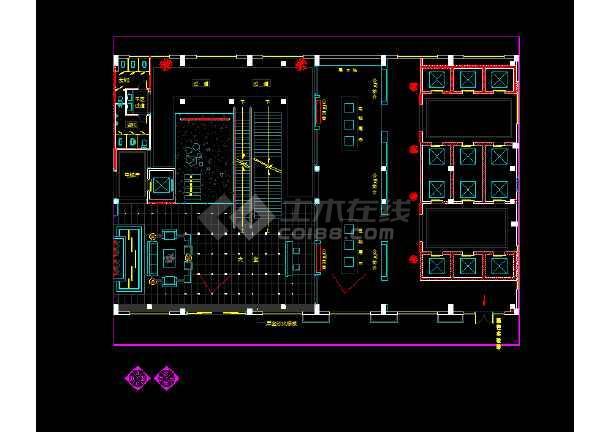 六套现代风格办公室装修设计CAD图纸c4d图纸v风格图片