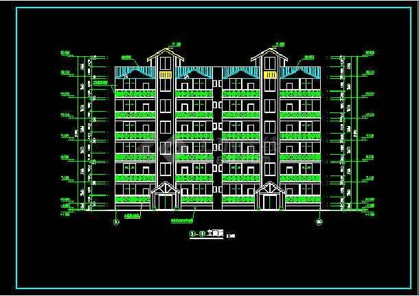 某6层住宅楼建筑设计CAD全套施工图-图1