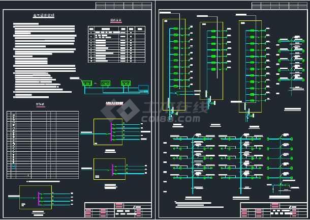 某商住楼电气设计CAD施工全套图纸-图1