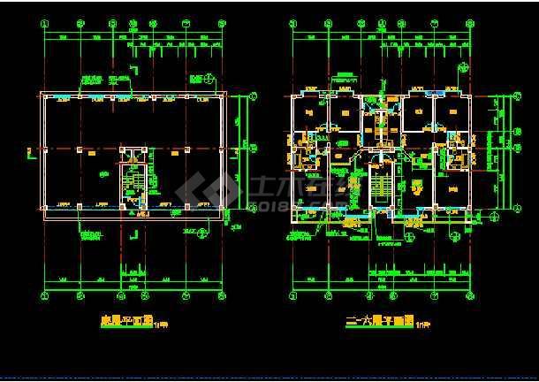 丹巴县某六层框架商住宅楼建筑CAD设计施工图-图2