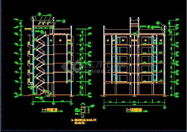 丹巴县某六层框架商住宅楼建筑CAD设计施工图-图3