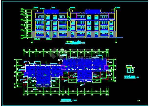 某小区住宅楼建筑设计CAD施工图纸-图1