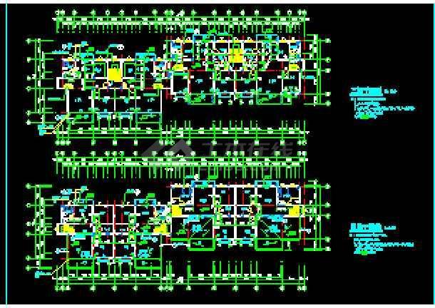 某小区住宅楼建筑设计CAD施工图纸-图3