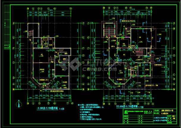 香格里拉高档别墅建筑设计cad全套施工图纸-图1