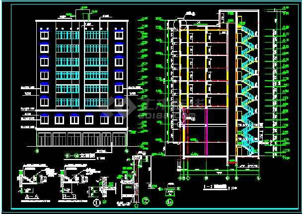 花样年华九层住宅建筑施工设计CAD方案图-图1