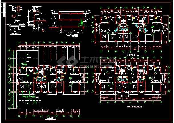 六层商住楼建筑设计施工CAD方案图-图2