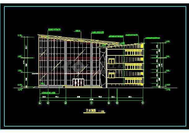 高级小区会所建筑设计CAD方案全套图-图1
