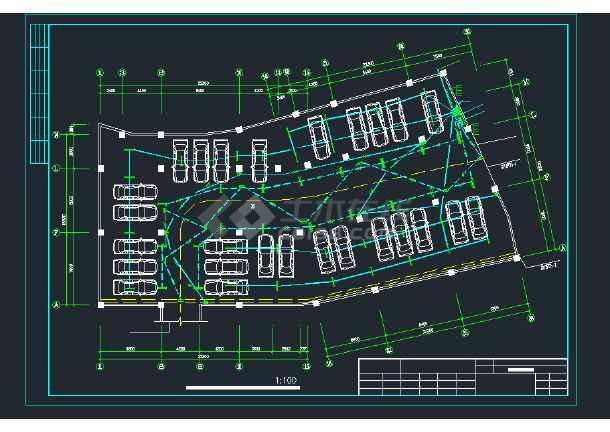 某高层住宅建筑楼强弱电CAD平面设计图-图2