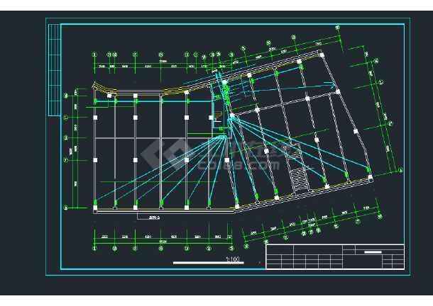 某高层住宅建筑楼强弱电CAD平面设计图-图3