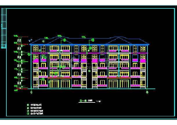 某小区二期3#楼建筑施工设计CAD方案图-图1