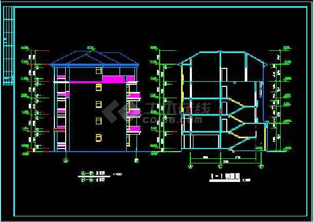 某小区二期3#楼建筑施工设计CAD方案图-图2