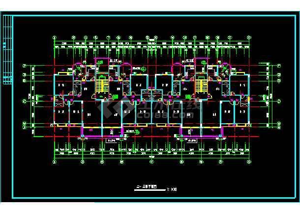 某小区二期3#楼建筑施工设计CAD方案图-图3