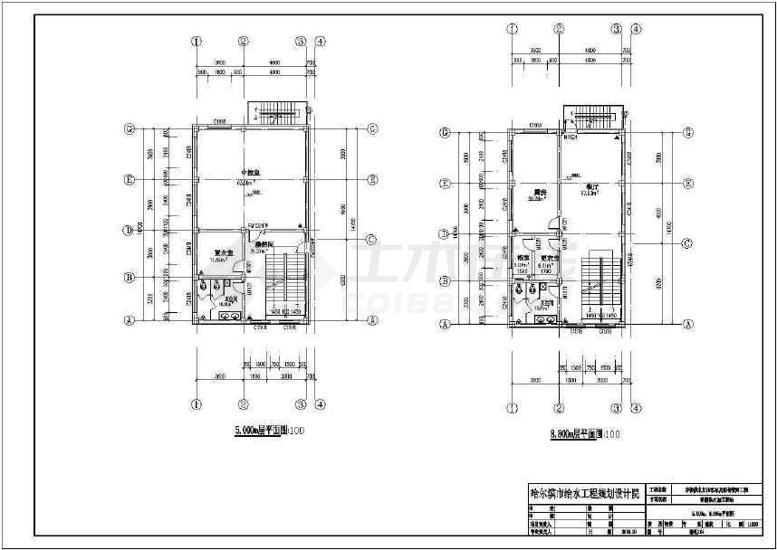 某地加压泵站综合楼变电所送水泵房建筑施工图纸-图3