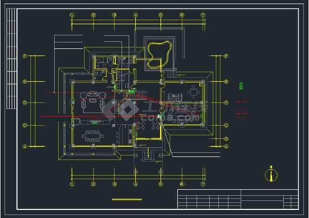 某实用宾馆楼强、弱电全套cad设计图纸-图2