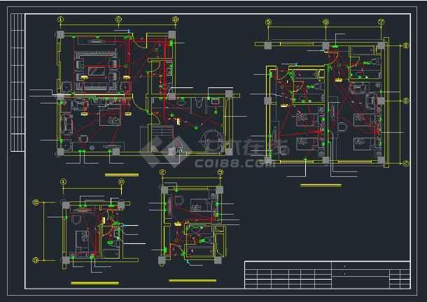 某实用宾馆楼强、弱电全套cad设计图纸-图3