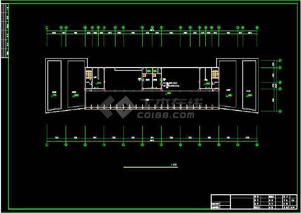 六套高层办公楼弱电设计施工CAD图-图3