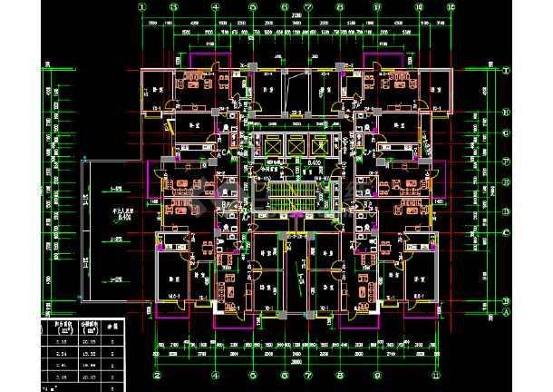 一梯8户32层小户型高层住宅楼建筑设计图图片