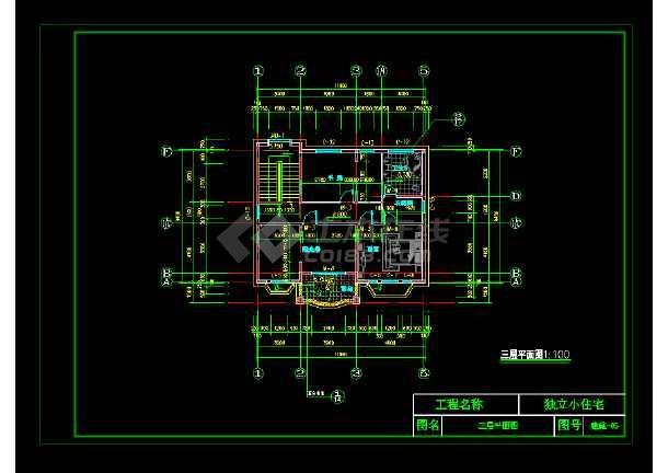 某市完整豪华欧式别墅施工图CAD图纸-图1