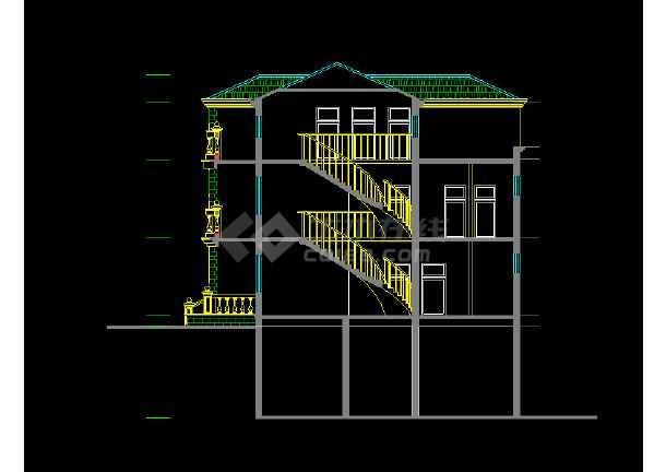 欧式别墅建筑图纸cad设计施工图-图1
