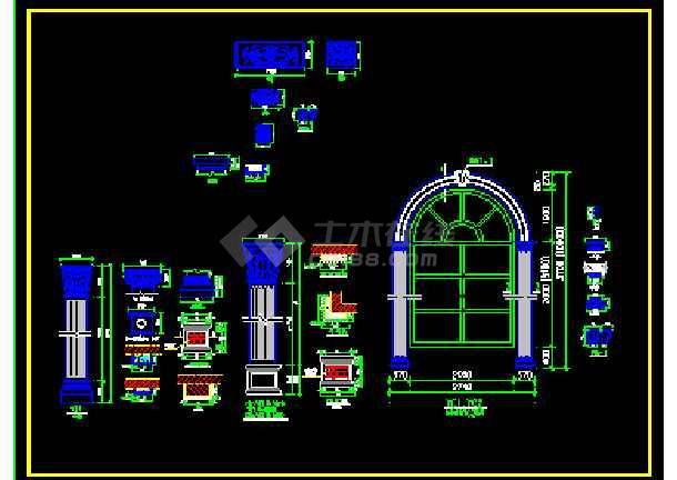 某欧式室内装修设计cad施工平面图块