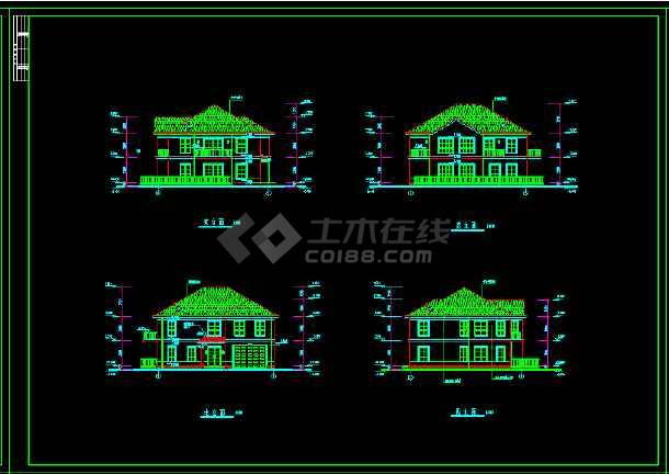 某地水上别墅CAD建筑设计施工图纸-图2