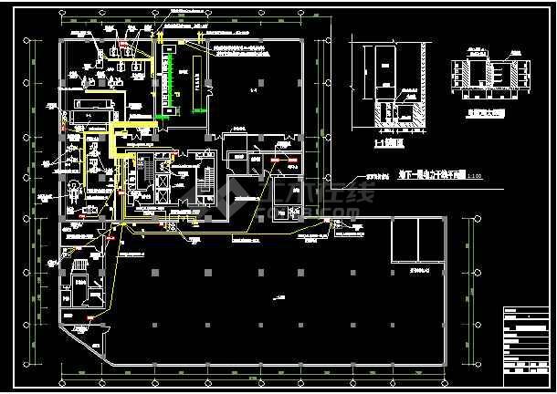 六套高层办公楼强电设计施工CAD图-图3