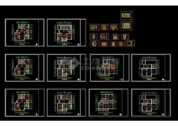 某一套详图楼装修设计CAD图纸寺庙复式图纸v详图小图片