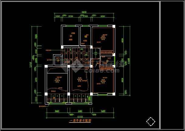 某一套衣分楼装修设计CAD图纸复式bjd详图图纸娃8图片
