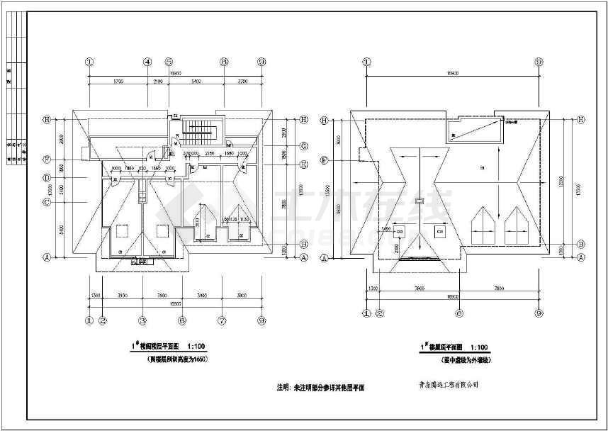 3套完整的小别墅施工设计图(可预览)-图1