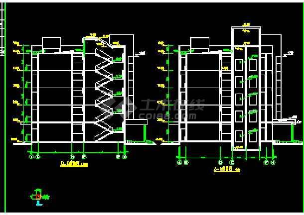 某五层精神病院建筑cad设计施工扩初图130民居平方米房屋六合无绝对图片