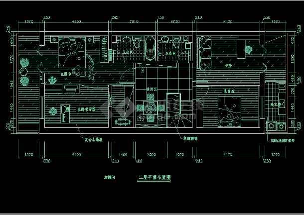 某省华夏银行室内装修设计整套施工图,吊顶图纸