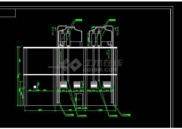 两台1600KW发电机环保安装工程全套CAD图纸-图1