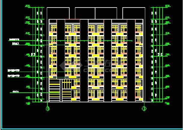 某市七层医院家属区招聘楼建筑cad方案设计图纸图片