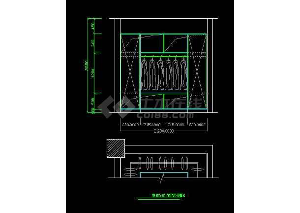 某装修设计详情鞋柜施工CAD图纸图纸玄关玻璃幕墙符号设计图片
