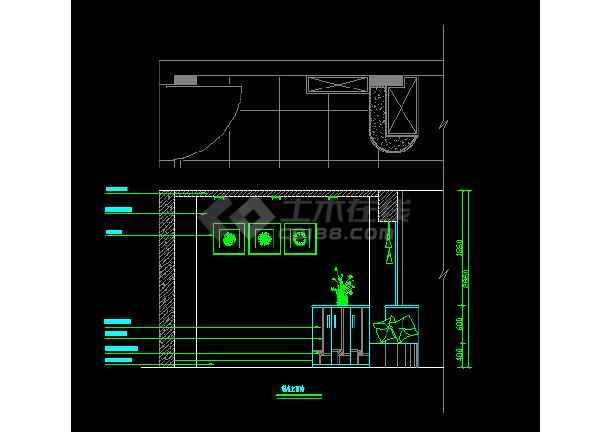 某装修设计住宅鞋柜设计CAD详情图纸设计免费图纸农村玄关图片