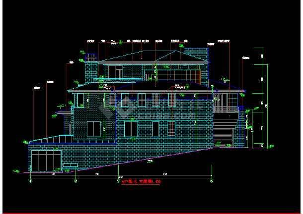 北京某墅别墅全套建筑设计图带效果图