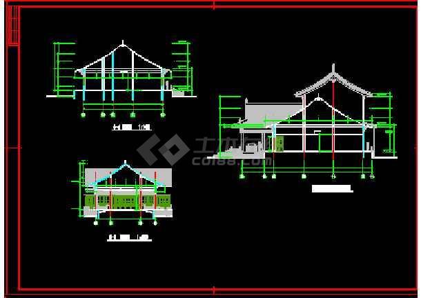 太湖古建筑施工cad设计方案详图-图2